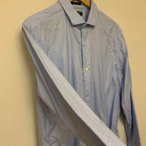 Banana Republic grant fit blue dress shirt Sz L